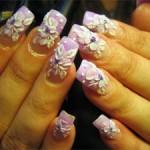 Объемная акриловая лепка на ногтях