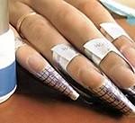 Дизайн ногтей «Ажурный кончик»