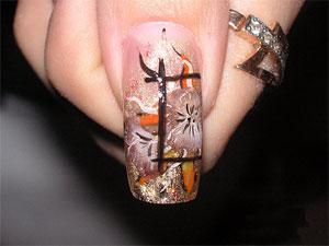 Художественные рисунки на ногтях