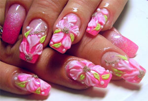 Я крашу ногти ярким лаком...