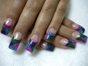 Дизайн ногтей с блестками
