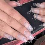Дизайн ногтей с использованием кружева