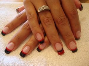 Черно-красный гелевый френч
