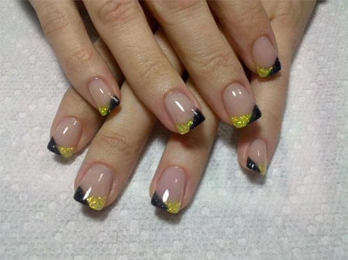 рисунок лев на ногтях.