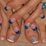 Синий блестящий френч