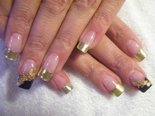 """Дизайн  """"Золотые лепестки """" :: Фотографии дизайна ногтей со всего мира :: Наталья Латыпова."""