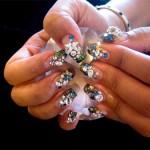 Блестящие ногти «Звезды и бриллианты»
