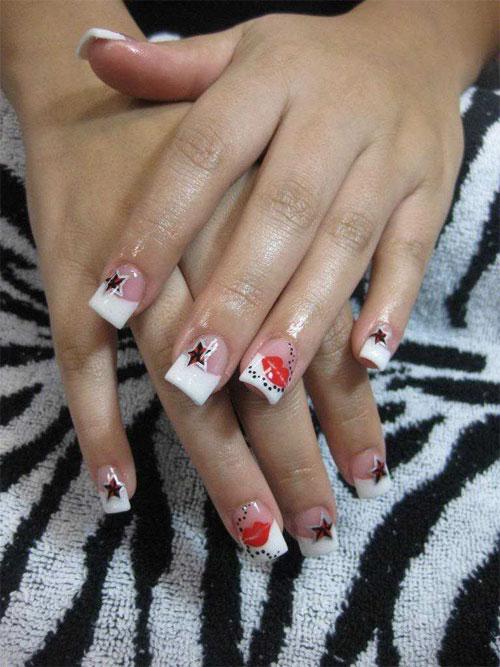 Дизайн ногтей на нарощенных ногтях видео