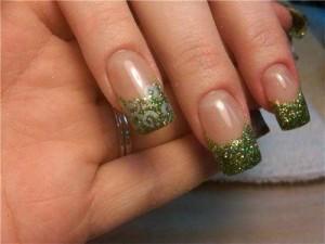 Зеленый френч с блестками