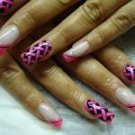 Дизайн ногтей «Розовая плетёнка»
