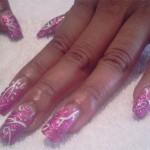 Дизайн ногтей «Розовый блеск»