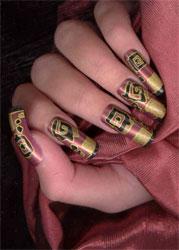 Рисунки на ногтях в египетском стиле