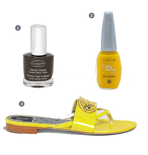 Модный микс: яркие лаки и босоножки