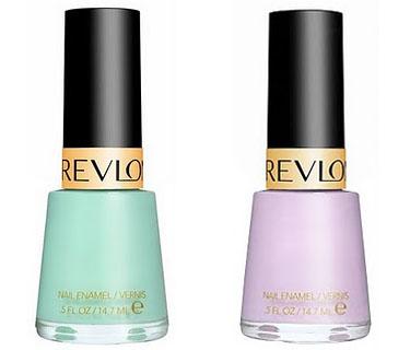 Revlon Minted (мята) и Revlon Lilac Pastille (нежно-лиловый)