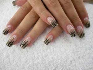 Дизайн ногтей «Дикая кошка»