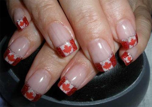 """Дизайн ногтей """"Канадский флаг"""""""