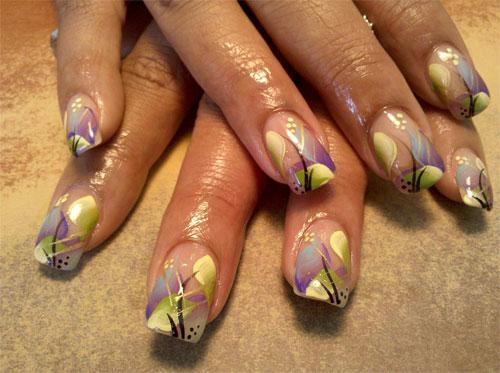 """Дизайн ногтей """"Цветочная абстракция"""""""