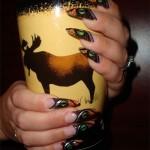 Дизайн ногтей «Глаз тигра»