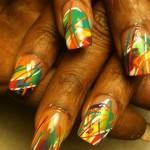 Дизайн ногтей «Яркая абстракция»