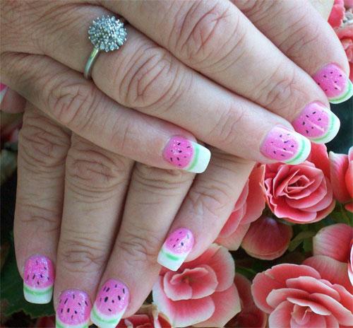 """""""Арбузный"""" дизайн ногтей"""