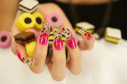 Карамельный дизайн ногтей