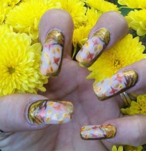 Дизайн ногтей с рисунками листопада