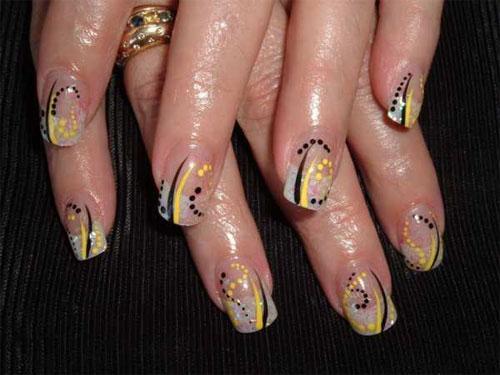 """Дизайн ногтей """"Абстрактные полосы"""""""