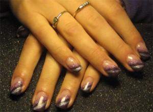 Дизайн ногтей «Сливовый блеск»