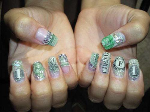 """Дизайн ногтей """"Деньги, деньги, деньги"""""""