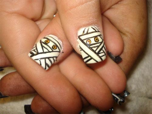 """Дизайн ногтей """"Мумия"""""""