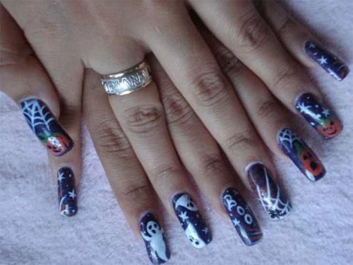 Дизайн ногтей с привидениями