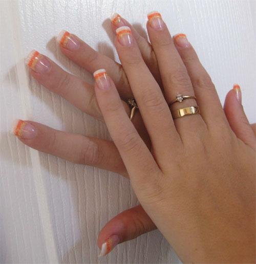 """Дизайн ногтей """"Сахарные кончики"""""""