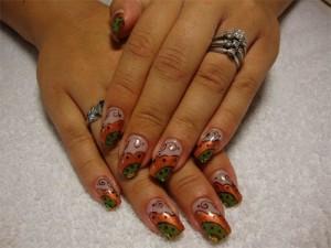 Дизайн ногтей «Причудливая осень»