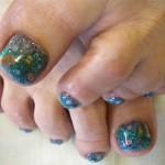 «Тропические» ноготки на ногах