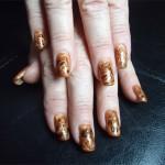 Дизай ногтей «Осенний мрамор»