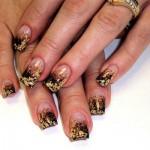 «Золотой» дизайн ногтей