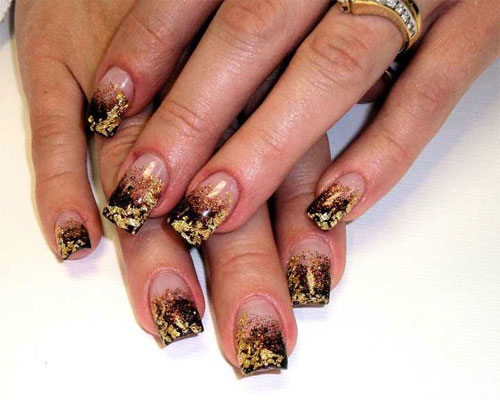 """""""Золотой"""" дизайн ногтей"""
