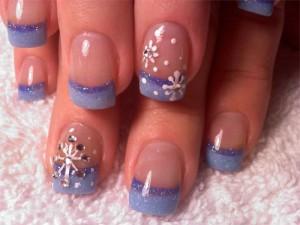 Дизайн ногтей «Снегопад»
