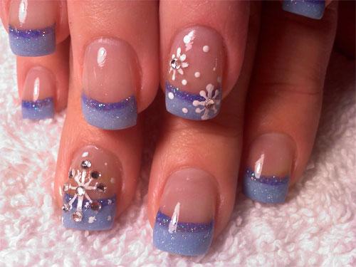 """Дизайн ногтей """"Снегопад"""""""