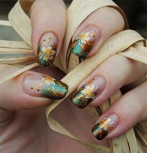 Дизайн ногтей «Листья прошедшей осени»
