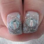 Дизайн ногтей «Снеговик»