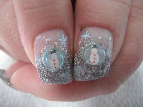 "Дизайн ногтей ""Снеговик"""