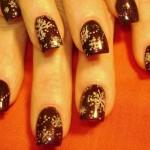 Дизайн ногтей «Серебряные снежинки»