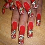 Дизайн ногтей «Праздничная абстракция»