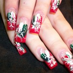 Дизайн ногтей «Праздничные цветы»