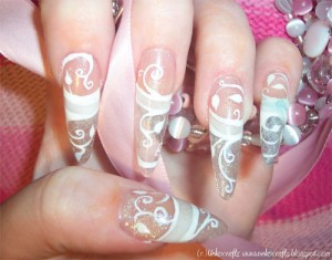 Дизайн ногтей «Морозный узор»