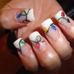 Дизайн ногтей «Ёлочная гирлянда»