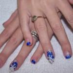 Дизайн ногтей «Зимние снежинки»