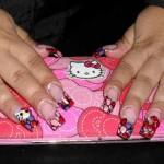 Дизайн ногтей «Hello Kitty»