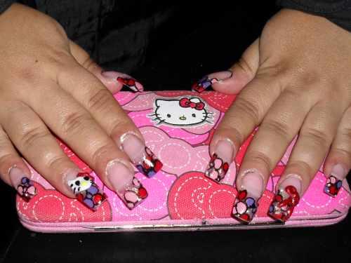 """Дизайн ногтей """"Hello Kitty"""""""